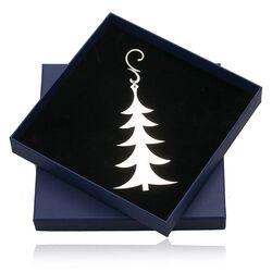 Zilveren kerstboom hanger kerstboom
