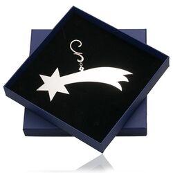 Zilveren kerstboom hanger vallende ster