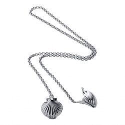 Zilveren servetklemmen schelp