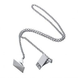 Servetklemmen rechthoekig van zilver servetketting