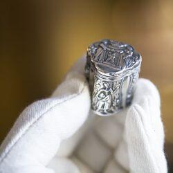 Antiek zilver lodereindoosje gemaakt rond 1800 huwelijksdoosje