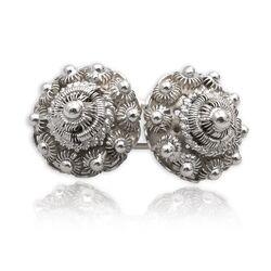 antieke zilveren keelknopen