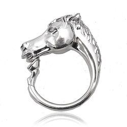 Zilveren sleutelring paard