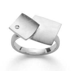 Bastian Inverun ring vierkantjes diamantje 33001