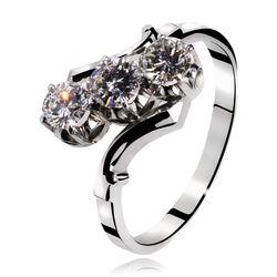 B.w.g. Gouden Ring 3 Briljanten