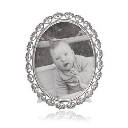 GL zilveren fotolijst hartpatroon ovaal