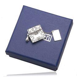 Zilveren hanger envelop met brief edelstenen