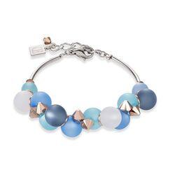 Coeur de Lion blauwe Polaris bollen armband 4994-30-4994