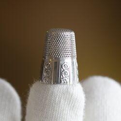 oude zilveren vingerhoed van Gabler Duitsland