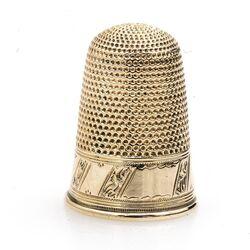 Antieke Hollandse gouden vingerhoed 19e eeuws