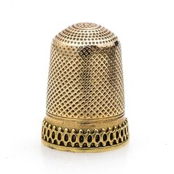 Gouden vingerhoed 5 puntige ster
