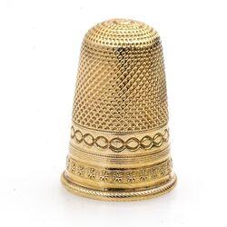 Gouden stevige vingerhoed