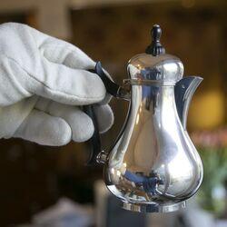 Zilveren warme melkkan jacobi