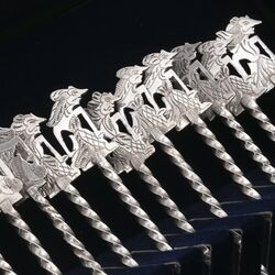 12 zilveren wajang vorkjes gemaakt in Indonesie