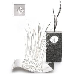 Zilveren kunstwerken van Anneke de Rond wuivend riet