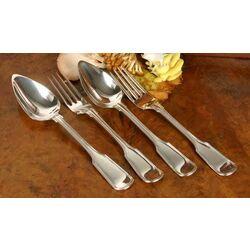 zilveren lepel en vork spatelfilet 19e eeuws van Kempen