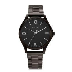 Gezwart stalen Classy mini horloge ZIW1237