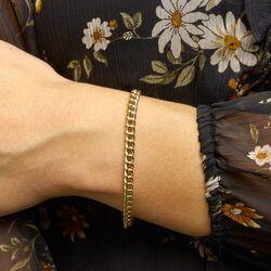 Geelgouden gourmet armband 5,2 mm 19 cm