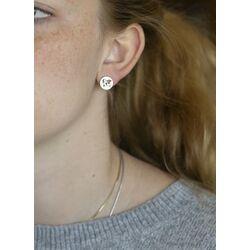 Christina zilveren oorstekers The World 671-S78