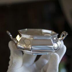 Suikerbakje zilver versailles bolpas