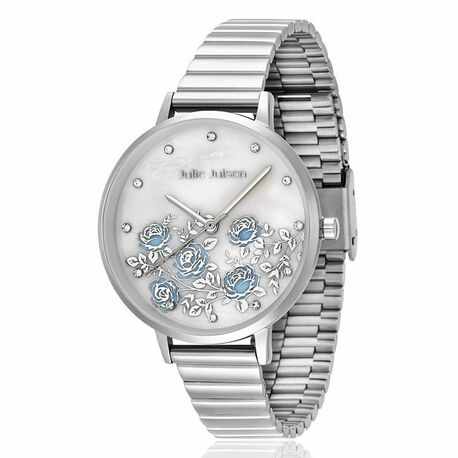 Julie Juslen Rose Garden horloge blauw