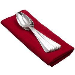 6 Dessertlepel Haags lofje zilver Van kempen