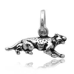 Zilveren bedel Luipaard