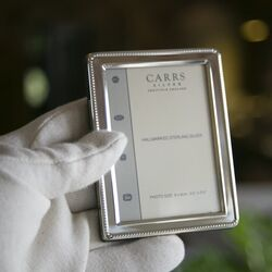 Zilveren fotolijstje parelrand 9 x 6 cm nbr2