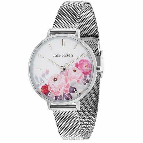 Julie Julsen Flower horloge mesh band JJW11SME