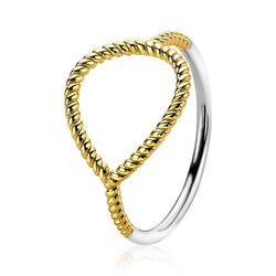 Zinzi vergulde ring druppelvorm ZIR2046G