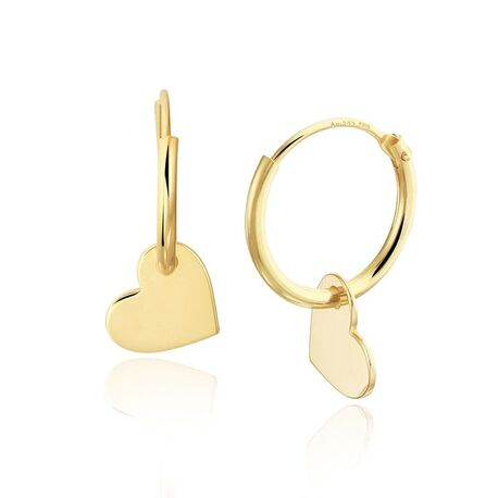 Kleine gouden oorringen hartje