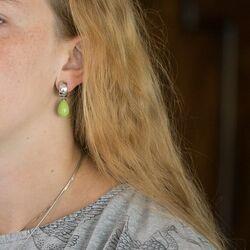 Heide Heinzendorff pistache groene aanhangers E5