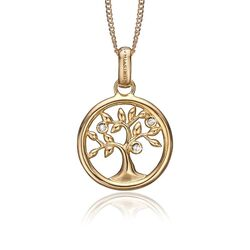 Christina verguld zilveren Tree of Life hanger 680-G47