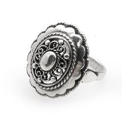 Vintage zilveren ring met filligrain