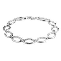 Zilveren armband ovale schakels 19 cm