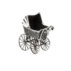 Miniatuur Zilveren Kinderwagen