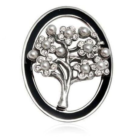 Zilveren broche levensboom levensboombroche GL Timeless Classics