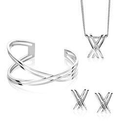 Zinzi set 12 kruislings oorbellen collier en armband Mart Visser