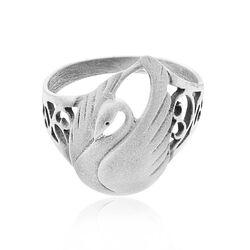 GL zilveren ring met zwaan