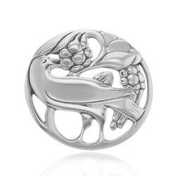 Zilveren broche duif met bessen GL Timeless Classics