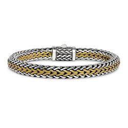 Silk RAW armband bicolor 282