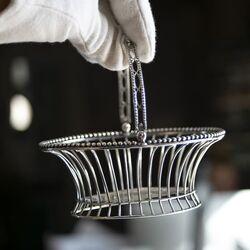 spijlenmandje antiek zilver Logerath Amsterdam 1784