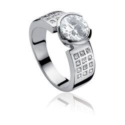 Zinzi ring witte zirconia Zir500