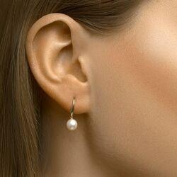 Geelgouden oorhangers zoetwaterparels