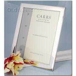 Zilveren fotolijst glad 25x20 Carrs