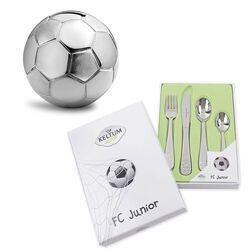 Cadeauset voetbalbestek met bal