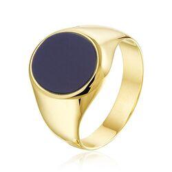 Geelgouden ring met lagensteen