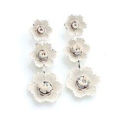 Diluca zilveren bloemen oorbellen camee O126-B