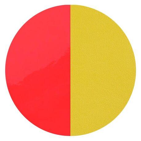 Les Georgettes 16 mm oorbellen inlay's rood geel