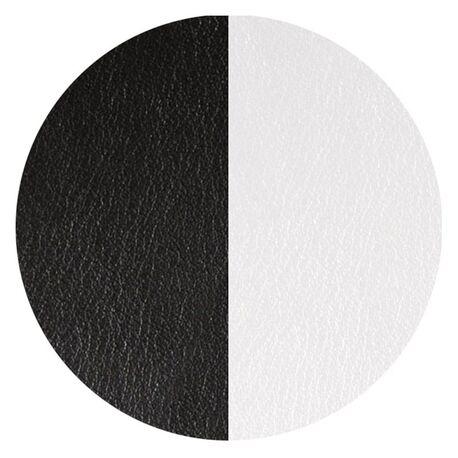 Les Georgettes 16 mm oorbellen inlay's zwart wit